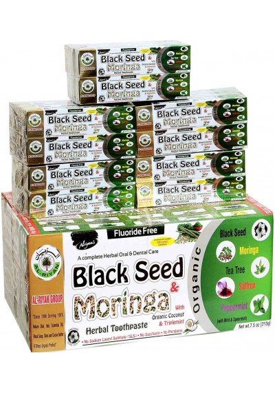 Black Seed Moringa Toothpaste (72 pc)