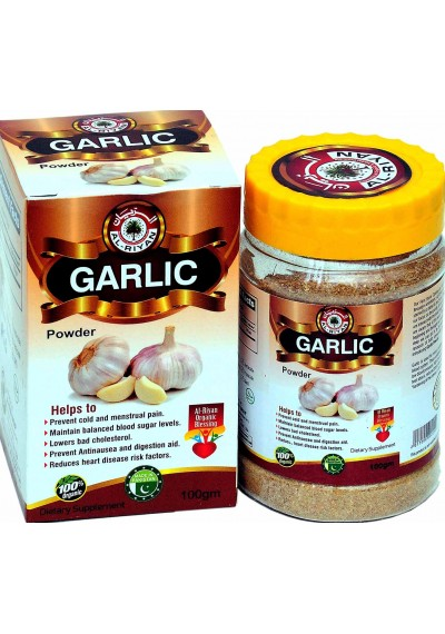 100% NATURAL Garlic Powder  MIX/Blend WITH any beverage or food Or take it straight. 100 grams (1 pcs)