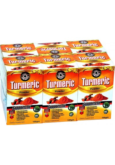 100% NATURAL Turmeric Powder  MIX/Blend WITH any beverage or food Or take it straight. 100 grams (6 pcs)